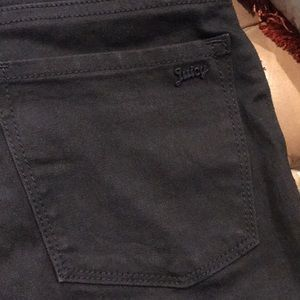 Juicy Black Stretch Jeans with wonderful detail